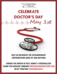 Help Us Celebrate Doctor's Day - May 1st!