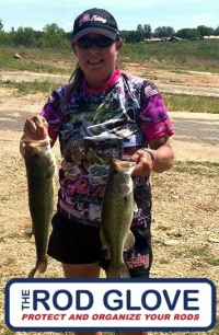 Reeling in the Cure one tournament at a time, The Rod Glove Pro Staff and Pink Fishing Pro Staff Director, Carolyn Nichols