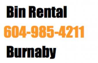 Bin Rental Services in Burnaby