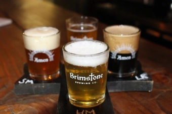 Brimstone Brewing Co.'s Gothic Casual Taproom calls a 20th Century Church Home