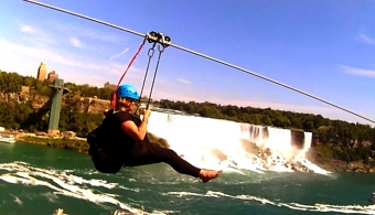 Stepping Out of My Comfort Zone Doing the zipline topless - now that's engagement!