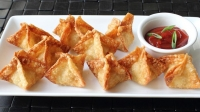 Crab Rangoon with EastDell Riesling