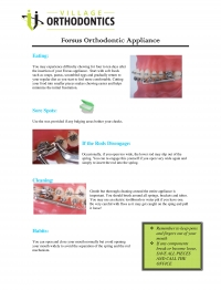 Forsus Orthodontic Appliances