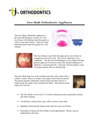 Face Mask Orthodontic Appliance