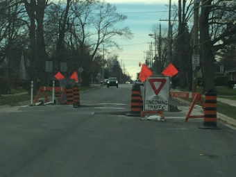 New Chicane Helps Calm Traffic in Pelham