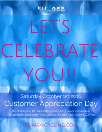 Customer Appreciation Day at Climaxx Cycling & Fitness