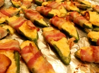 Bacon-wrapped jalapeno poppers with EastDell Cabernet Sauvignon Icewine!