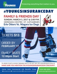 Niagara Ice Dogs | Youngs Insurance Day - March 5, 2017