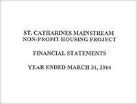 St. Catharines Mainstream Non-Profit Housing 2014