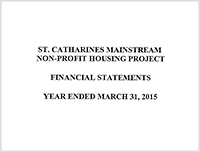 St. Catharines Mainstream Non-Profit Housing 2015