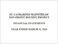 St. Catharines Mainstream Non-Profit Housing 2016