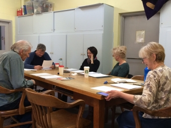 Workshop of new Norm Foster play, Lunenburg, has begun!