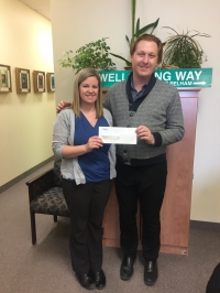 Diamond Estates donates $2,000 to Wellspring Niagara