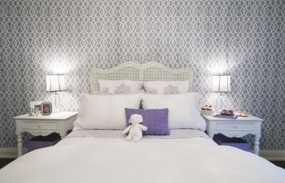 Enchanting Purple Hues: A Toronto Bedroom